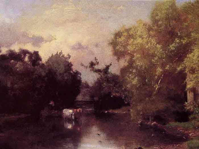 Oil painting for sale:The Pequonic, New Jersey, 1877