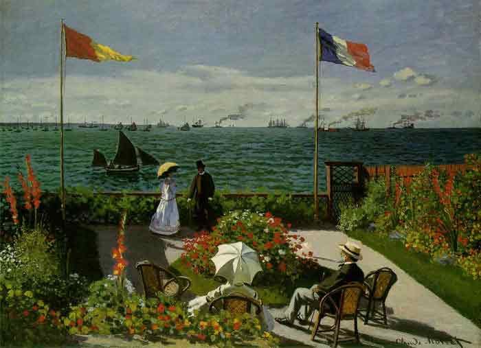Oil painting for sale:Garden at Sainte-Adresse , 1867