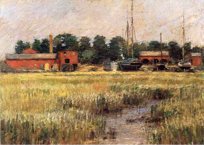 Oil painting for sale:The Ship Yard, 1894