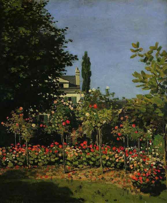 Oil painting for sale:Garden in Flower , 1866