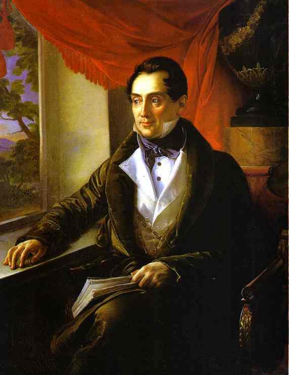 Oil painting:Portrait of P. N. Zubov. 1839