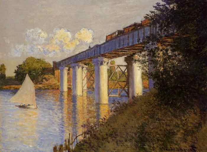 Oil painting for sale:The Railway Bridge at Argenteuil , 1874