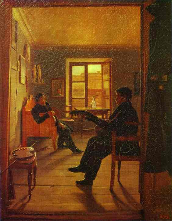 Oil painting:In the Rooms. 1828