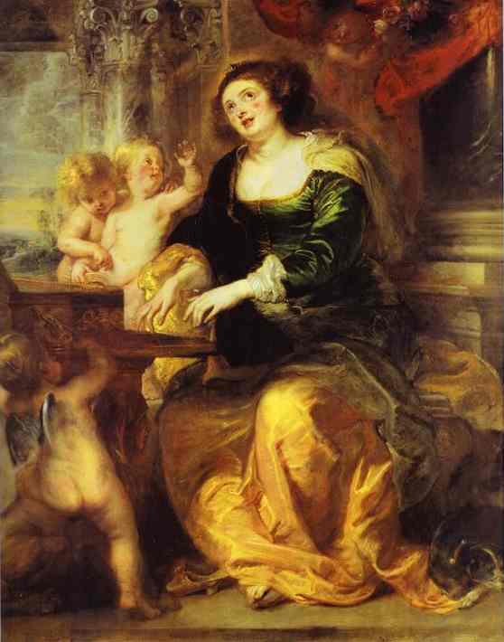 Oil painting:St. Cecilia. c.1639