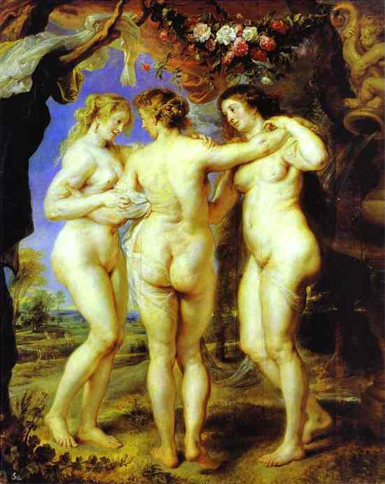 Oil painting:The Three Graces. c.1636