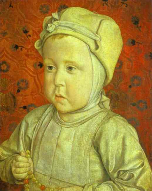 Oil painting:Portrait of the Dauphin Charles-Orlant.