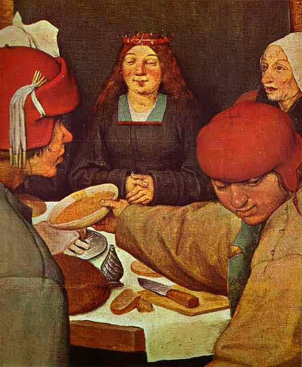 The Peasant Wedding. Detail. 1567