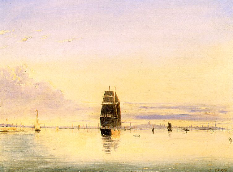 Boston Harbor Scene