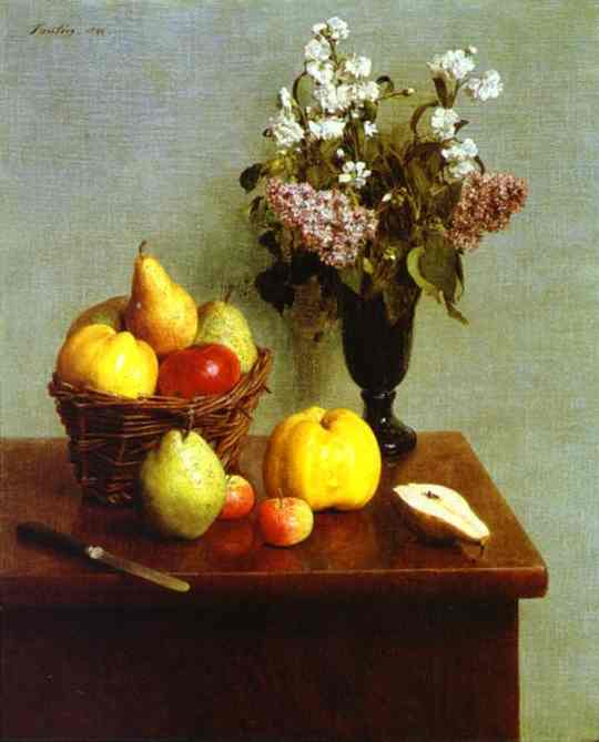 Spring Flowers, Apples and Pears