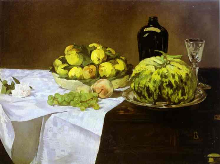 Still-Life with Melon and Peaches