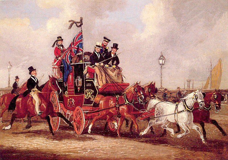 The Last Mail Leaving Newcastle, July 5, 1847