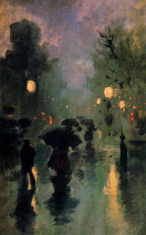 The Street in a rainy night