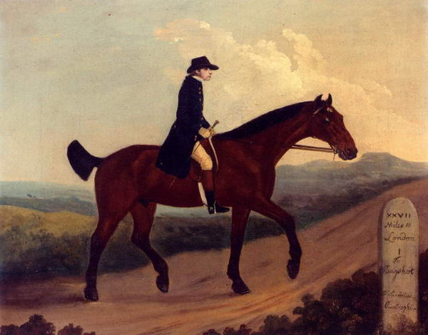 A Horseman on the Road to Bagshot