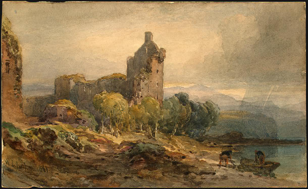 A Ruined Castle on a Lake