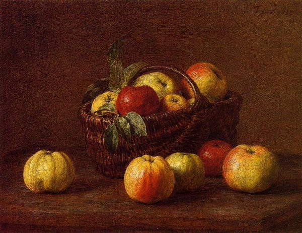 Apples in a Basket on a Table