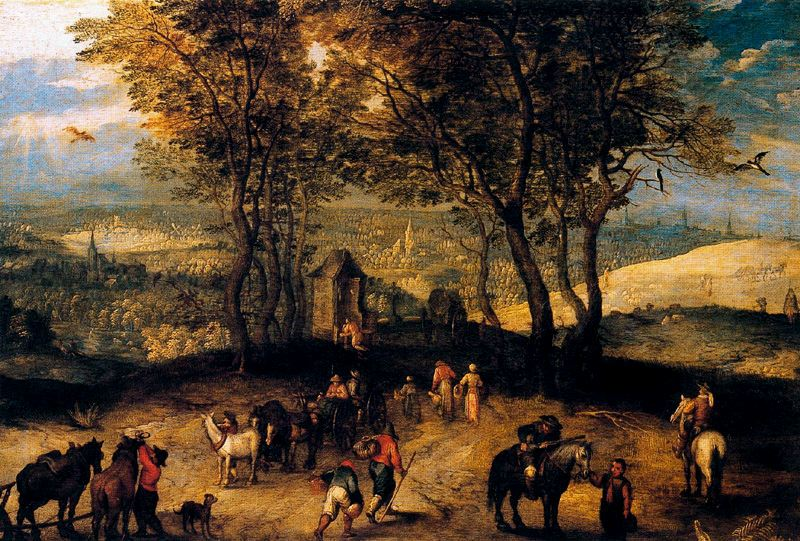 Landscape with Walkers