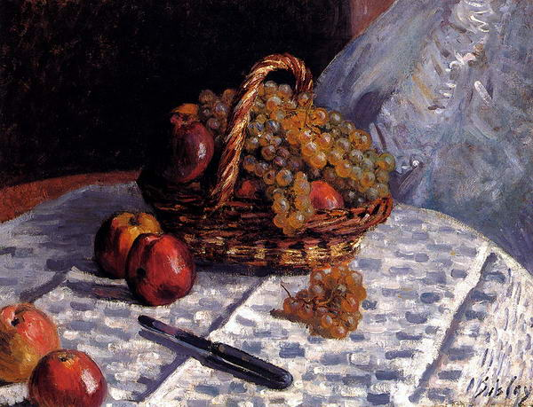 Still-Life - Apples and Grapes