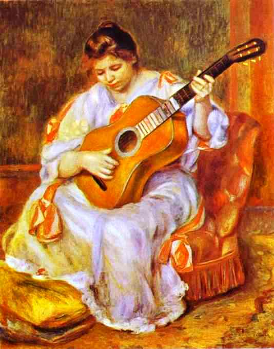 Woman Playing A Guitar