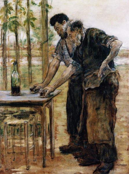 Blacksmiths Taking a Drink
