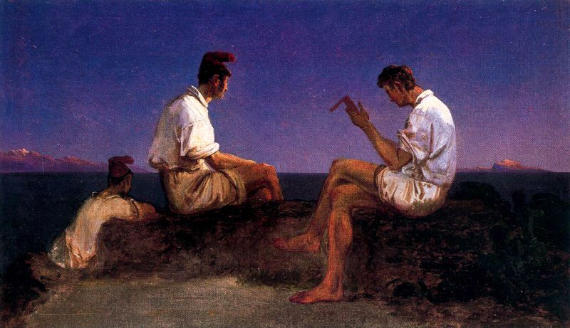 Fishermen at the Gulf of Naples