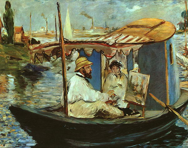 Working on his Boat at Argenteuil