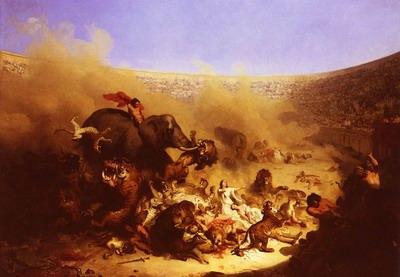 Combats Dans LArene, fights in the arena