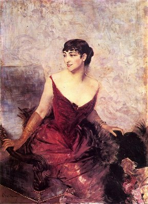 Countess de Rasty Seated in an Armchair