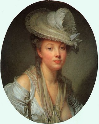Young Woman in a White Hat