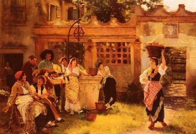 A Venetian Fan Seller