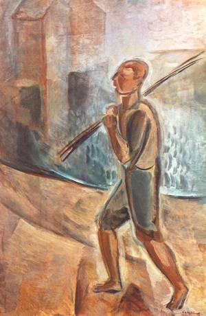 Fisherman at Lake Balaton 1937-38