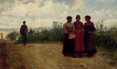 Gossips In The Roman Campagna