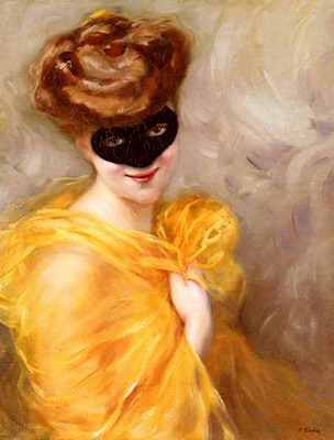 Lady At A Masked Ball