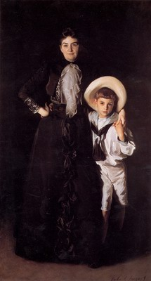 Mrs. Edward L Davis and Her Son Livingston