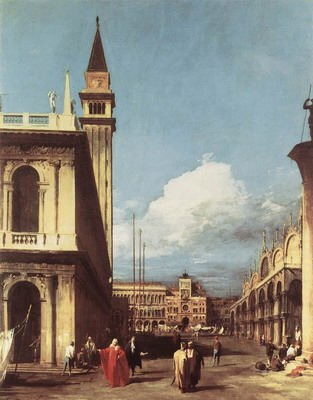 The Piazzetta, Looking Toward The Clock Tower