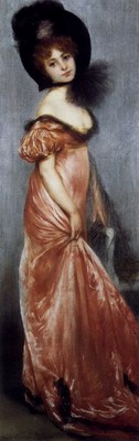 Young Girl In A Pink Dress