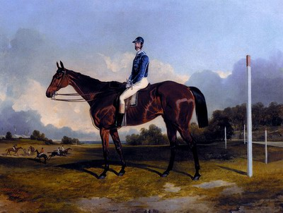 A Racehorse With Jockey Up
