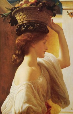 Eucharis-A Girl with a Basket of Fruit