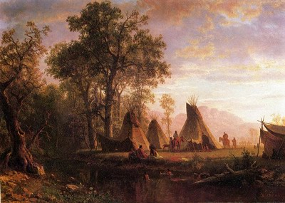 Indian Encampment,Late Afternoon