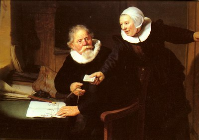 Jan Rijcksen And His Wife, griet jans, the shipbuilder and his wife