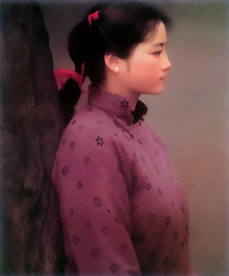 Profile of a young Chinese woman