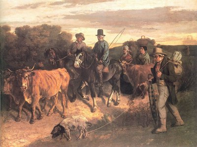 The Peasants of Flagey Returning from the Fair, Ornans