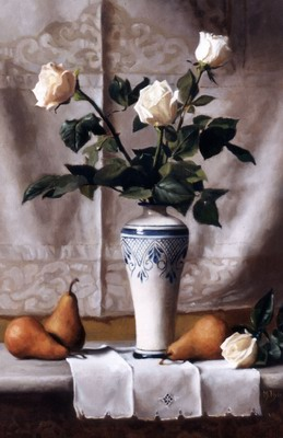 Bacio dInverno, Still Life with White Roses