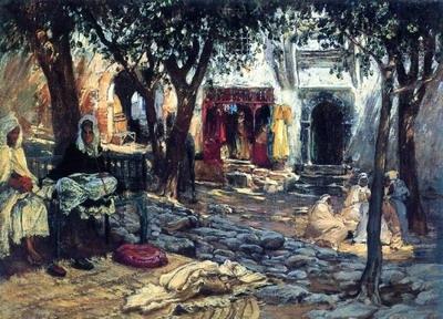 Idle Moments, An Arab Courtyard