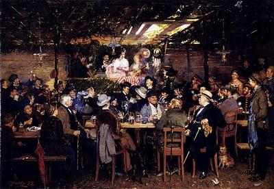 In The Bavarian Beergarden