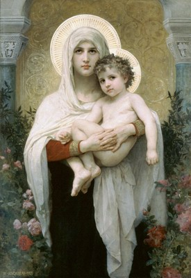 La madone aux roses, the madonna of the roses