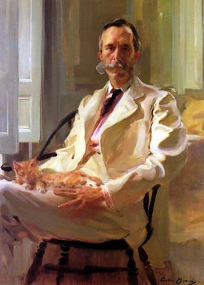 Man with the Cat, Henry sturgis drinker