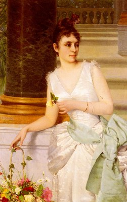 Portrait Of A Lady With A Green Satin Sash