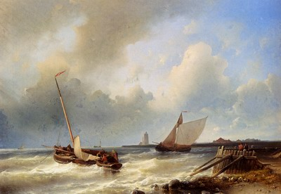 Shipping Off The Dutch Coast