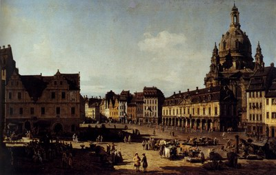 View Of The New Market In Dresden