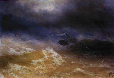 storm on sea 1899